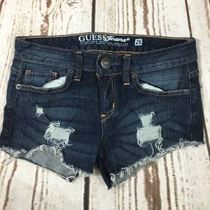 Guess Jeans size 26 Carla bootcut denim cutoffs